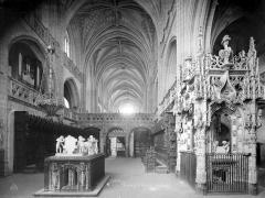 Ancienne abbaye de Brou - Eglise : Vue intérieure du choeur, vers l'ouest