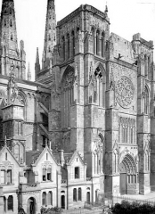 Cathédrale Saint-André - Façade sud : Transept