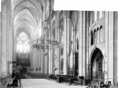 Cathédrale Saint-Etienne - Vue intérieure de la nef, vers le nord-ouest