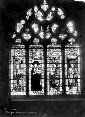 Cathédrale Saint-Etienne - Vitrail du bas-côté nord : Les quatre pères de l'église