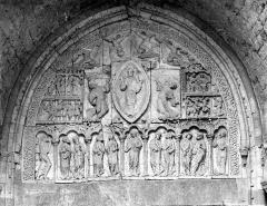 Cathédrale Saint-Etienne - Portail de la façade nord. Tympan : L'Ascension