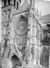 Cathédrale Saint-Etienne - Transept nord : partie supérieure