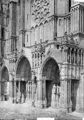 Cathédrale Notre-Dame - Portail de la façade sud : ensemble