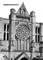 Cathédrale Notre-Dame - Façade nord : Transept (partie supérieure)