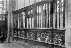 Cathédrale Notre-Dame - Clôture en bois d'une chapelle