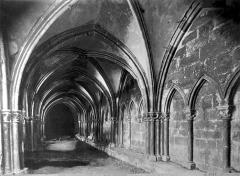 Cathédrale Saint-Mammes - Cloître : vue intérieure d'une galerie