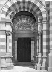 Cathédrale Sainte-Marie-Majeure, dite Nouvelle Major - Portail de la façade ouest de la façade sud