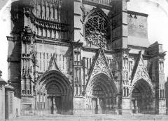 Cathédrale Saint-Etienne - Façade ouest : partie inférieure