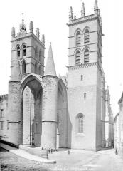 Cathédrale Saint-Pierre - Façade ouest, porche et clocher