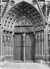 Cathédrale Notre-Dame - Portail du transept sud : partie centrale