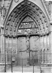 Cathédrale Notre-Dame - Portail du transept nord : partie centrale