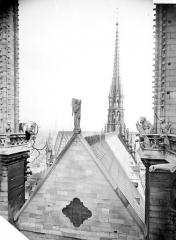 Cathédrale Notre-Dame - Toiture de la nef et flèche, prises d'entre les deux tours