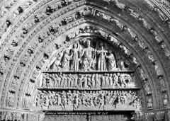 Cathédrale Saint-Pierre - Portail central de la façade ouest : tympan