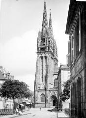Cathédrale Saint-Corentin - Façade sud : Tour clocher