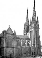 Cathédrale Saint-Corentin - Façade nord : transept et partie ouest
