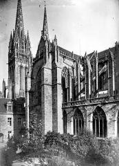 Cathédrale Saint-Corentin - Façade sud : transept