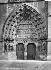 Cathédrale Notre-Dame - Portail central du transept nord