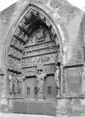 Cathédrale Notre-Dame - Portail gauche du transept nord : Le Jugement dernier