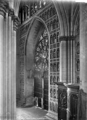 Cathédrale Notre-Dame - Vue intérieure : Revers du portail central de la façade ouest