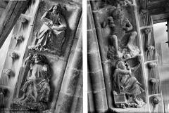 Cathédrale Notre-Dame - Transept sud : détail des figures de la rose