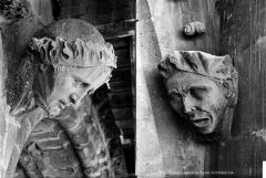 Cathédrale Notre-Dame - Transept sud : détail de figures sculptées