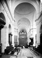 Cathédrale Saint-Louis - Vue intérieure de la nef, vers l'entrée