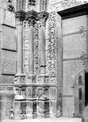 Ensemble archiépiscopal - Portail sud de la façade ouest : ébrasement gauche