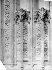 Ensemble archiépiscopal - Portail du transept nord dit des Libraires : ébrasement