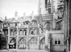 Ensemble archiépiscopal - Salle capitulaire : façade