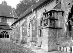 Cathédrale et cloître - Cloître : Chaire à prêcher sur la galerie nord