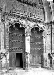 Cathédrale Notre-Dame - Portail central de la façade ouest : portes