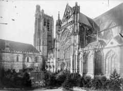 Cathédrale Saint-Etienne - Façade sud : partie ouest