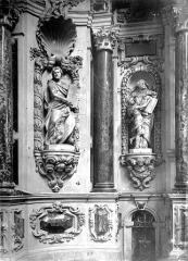 Cathédrale Saint-Etienne - Retable, détails, partie gauche