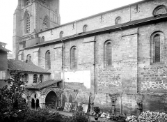 Cathédrale Saint-Martin, actuellement Notre-Dame et cloître, actuellement Musée municipal - Façade sud : partie ouest