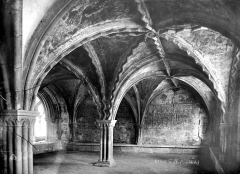 Cathédrale Saint-Martin, actuellement Notre-Dame et cloître, actuellement Musée municipal - Salle capitulaire : vue intérieure