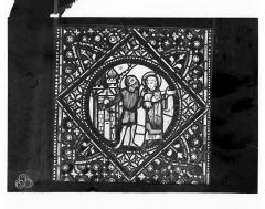 Cathédrale Saint-Jean - Vitrail de saint Etienne : Saint Etienne arrêté