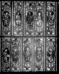 Cathédrale Saint-Jean - Vitrail : figures de saints