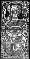 Cathédrale Saint-Jean - Vitrail : Martyre d'un saint. Guérison d'un paralytique
