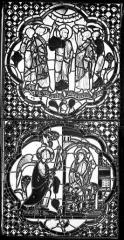 Cathédrale Saint-Jean - Vitrail : La Rédemption. L'Annonciation