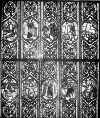 Cathédrale Saint-Jean - Vitrail : Personnages de l'Ancien Testament