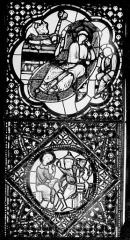 Cathédrale Saint-Jean - Vitrail : Nativité. Christ enseignant au Temple