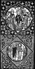 Cathédrale Saint-Jean - Vitrail : Vie de saint Etienne