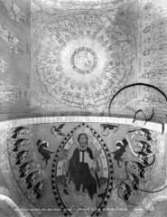 Eglise Saint-Loup - Peintures murales de la voûte du choeur