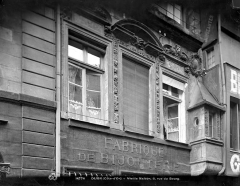 Maison Dubret - Façade sur rue : 1er étage