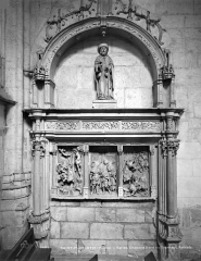 Eglise Saint-Florentin - Chapelle nord du transept, retable