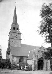 Eglise Notre-Dame du Tertre - Façade sud : clocher et porche