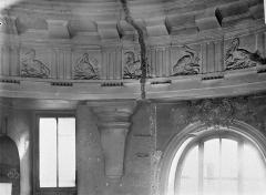Ancien hôtel Tubeuf, ou hôtel Colbert de Torcy - Vue intérieure : frise du plafond