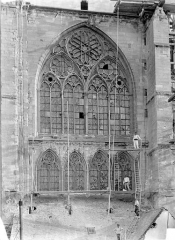 Cathédrale Saint-Etienne - Façade nord : partie supérieure du transept