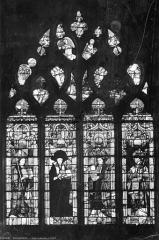 Cathédrale Saint-Etienne - Vitrail : Les Quatre Pères de l'Eglise
