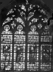 Cathédrale Saint-Etienne - Vitrail : fenêtre de la famille Letellier